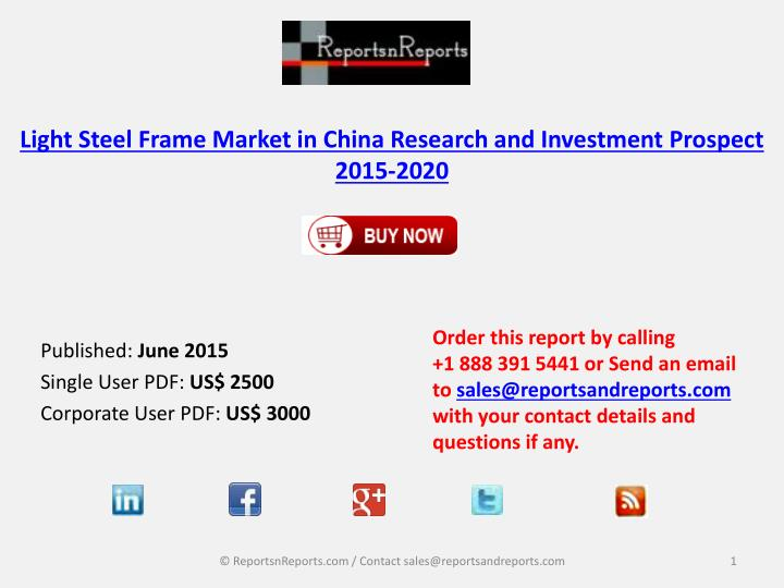 Light steel frame market in china research and investment prospect 2015 2020