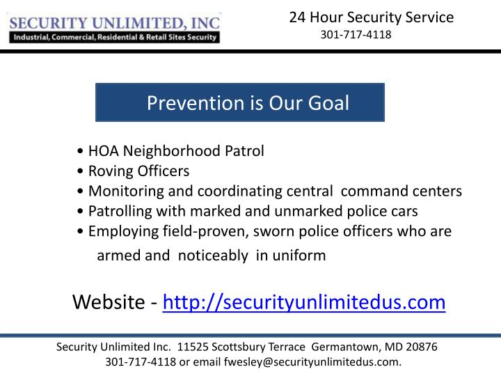 24 Hour Security Service