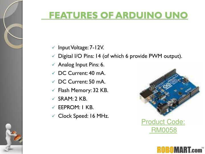 FEATURES OF ARDUINO UNO