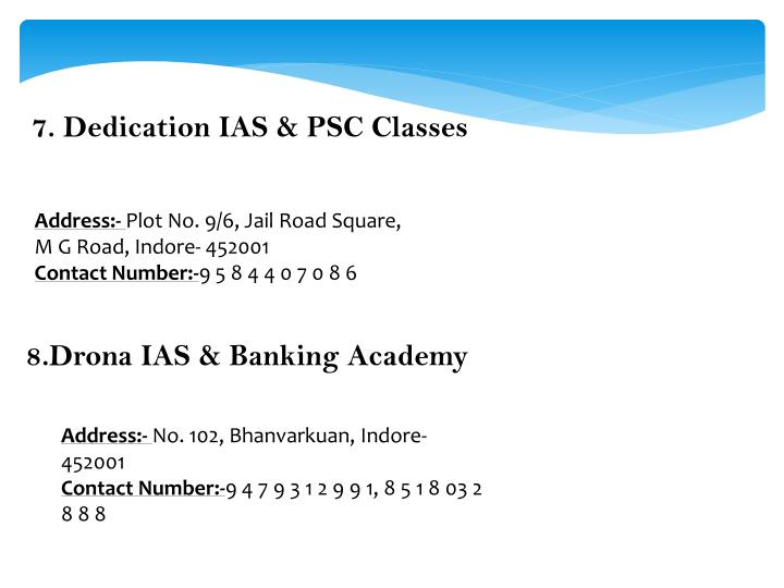 7.Dedication IAS & PSC Classes