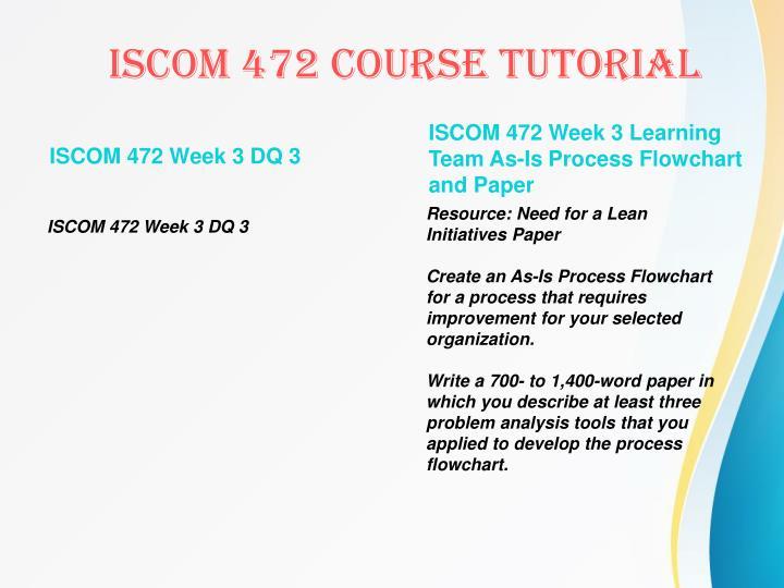 ISCOM 472 Week 3 DQ 3