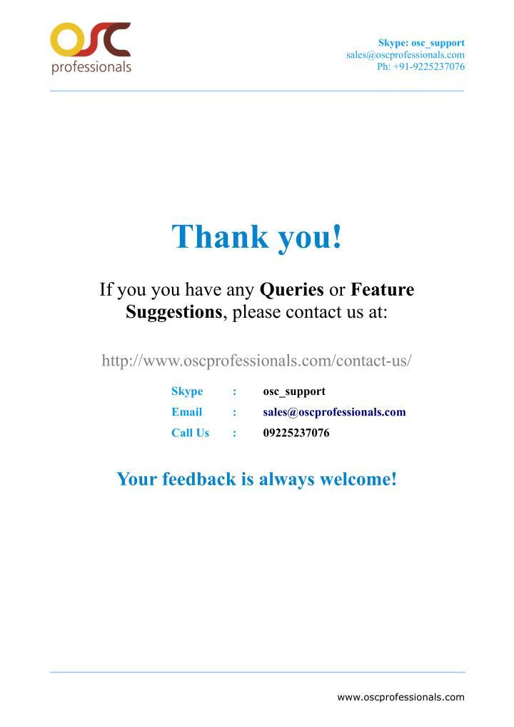 Skype: osc_support