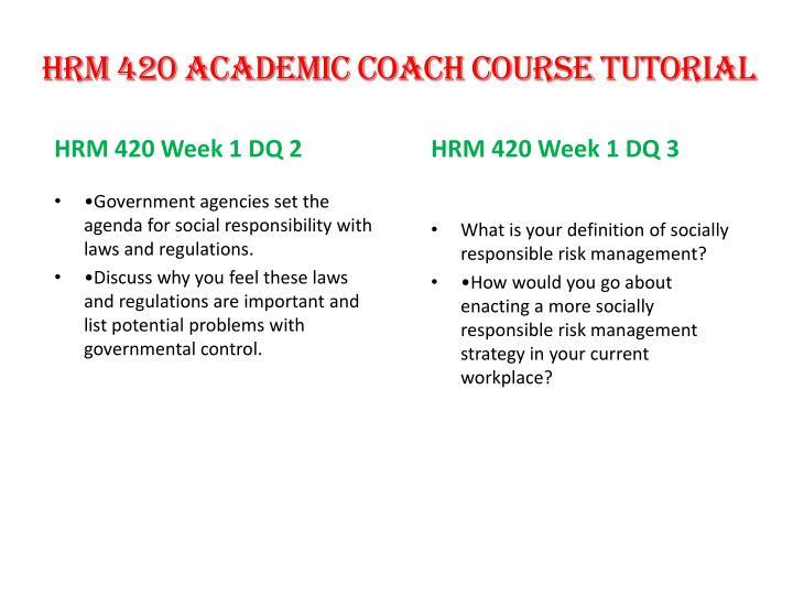 HRM 420 Academic