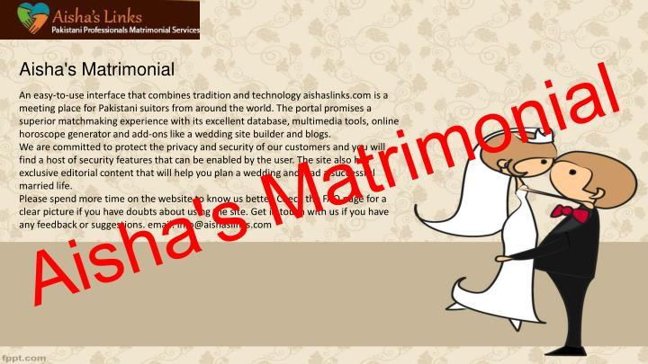 Aisha's Matrimonial
