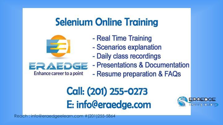 Reach : info@eraedgeelearn.com #(201)255-5864