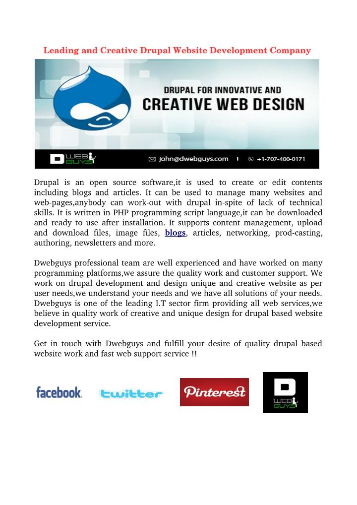Leading and Creative Drupal Website Development Company