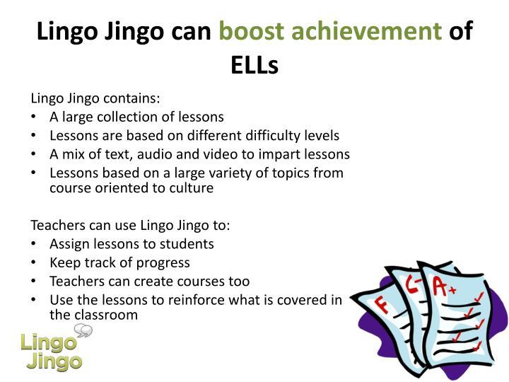 Lingo Jingo can
