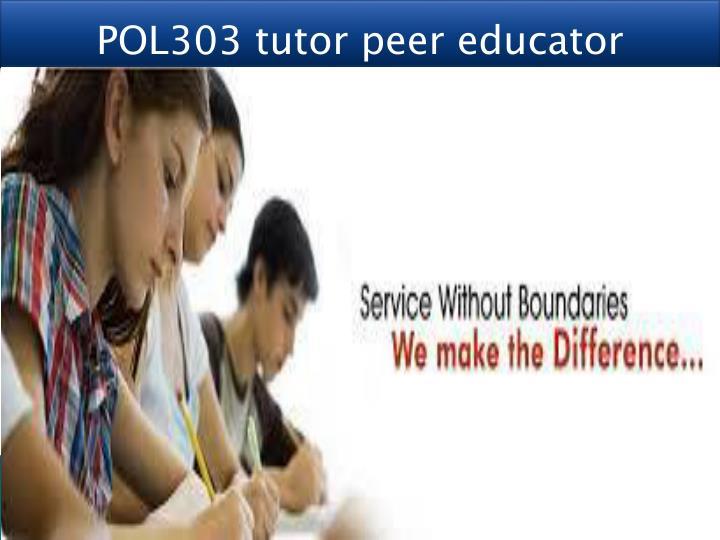 POL303 tutor peer