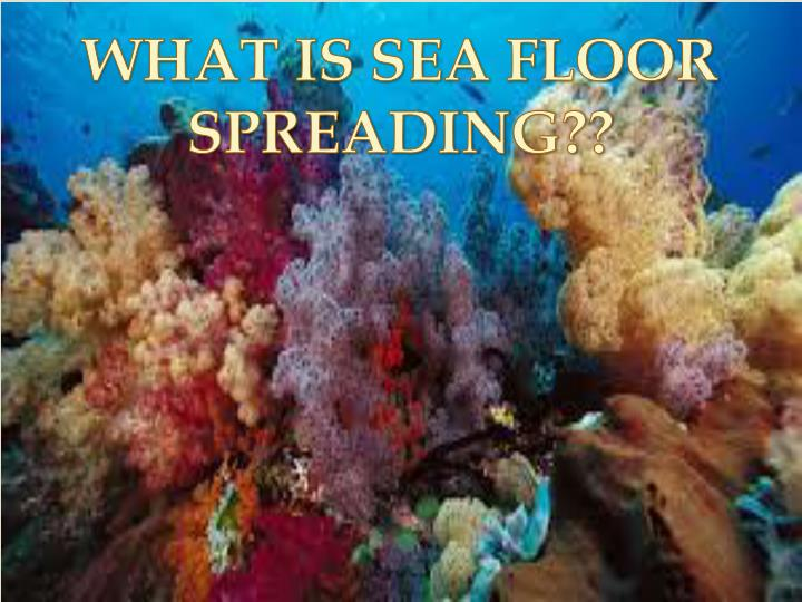 WHAT IS SEA FLOOR SPREADING??