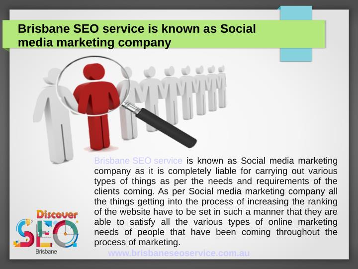 Brisbane SEO service is known as Social