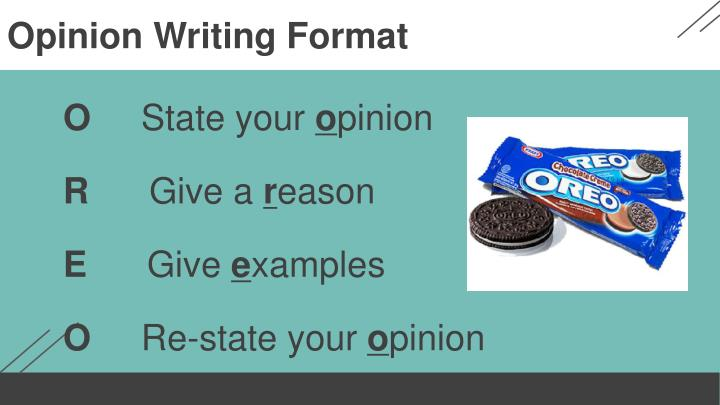 Opinion Writing Format