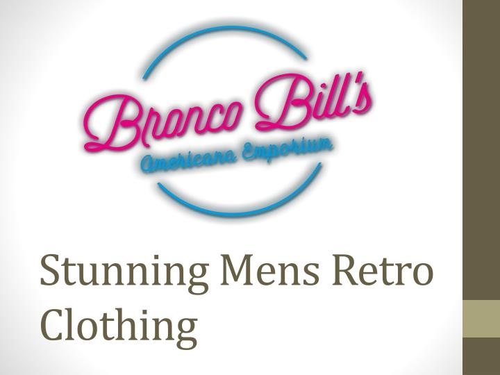 Stunning mens retro clothing