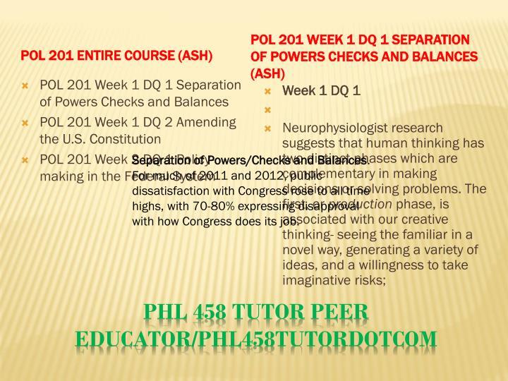 POL 201 Entire Course (Ash)