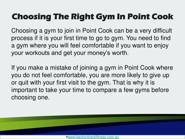 Choosing the right gym in point cook1