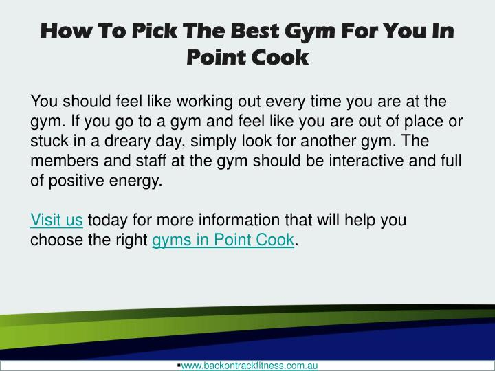 How To Pick The Best Gym For You In Point Cook