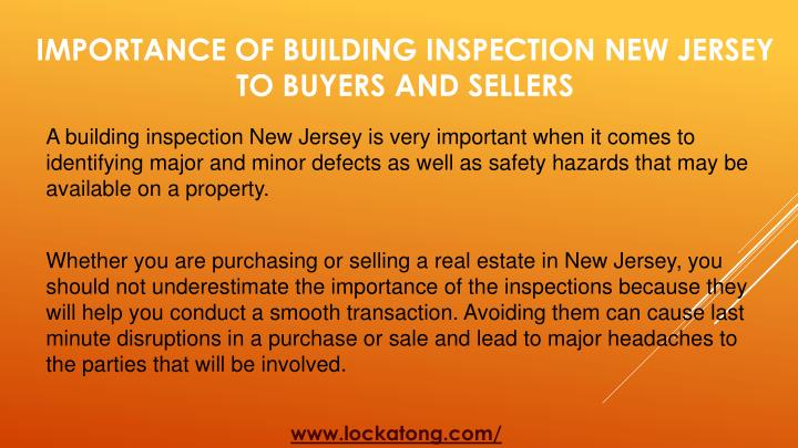 Importance of building inspection new jersey to buyers and sellers1