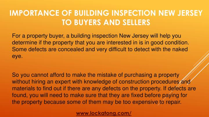 Importance of building inspection new jersey to buyers and sellers2