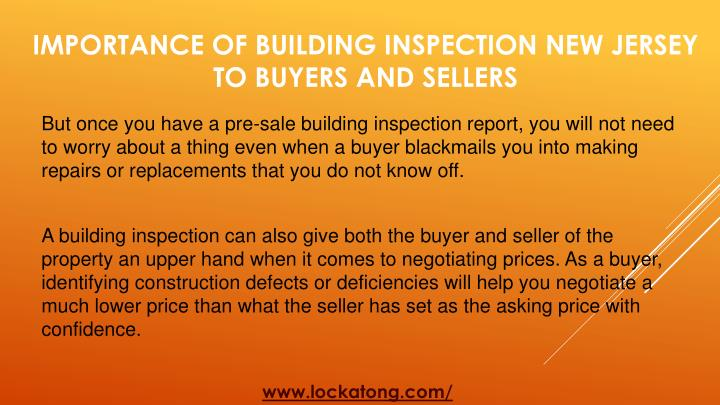 But once you have a pre-sale building inspection report, you will not need to worry about a thing even when a buyer blackmails you into making repairs or replacements that you do not know off.