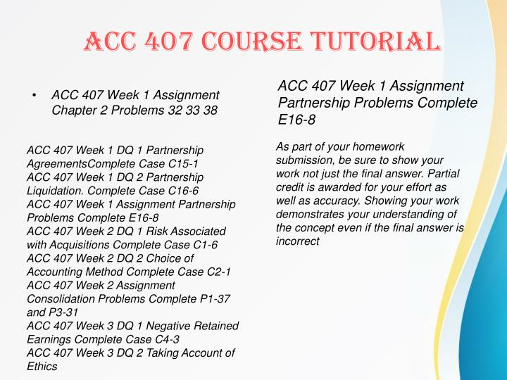 ACC 407 Week 1 Assignment Chapter 2 Problems 32 33 38