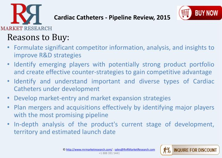 Cardiac Catheters - Pipeline Review, 2015