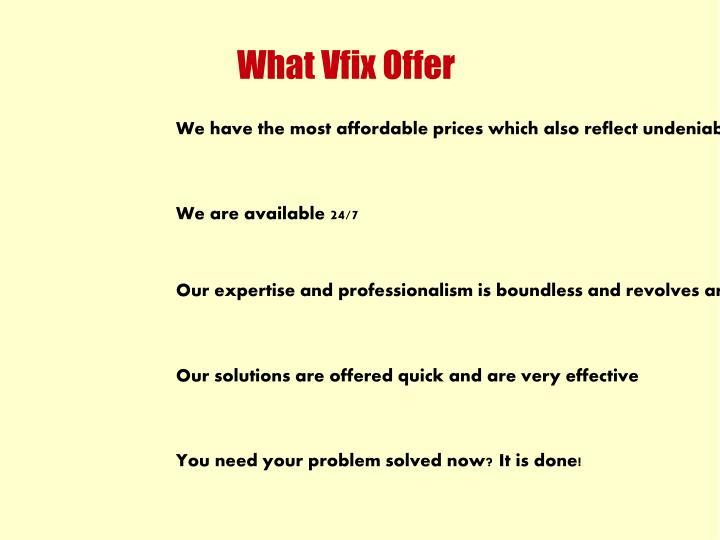 What Vfix Offer