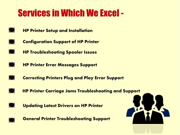 Services in Which We Excel -