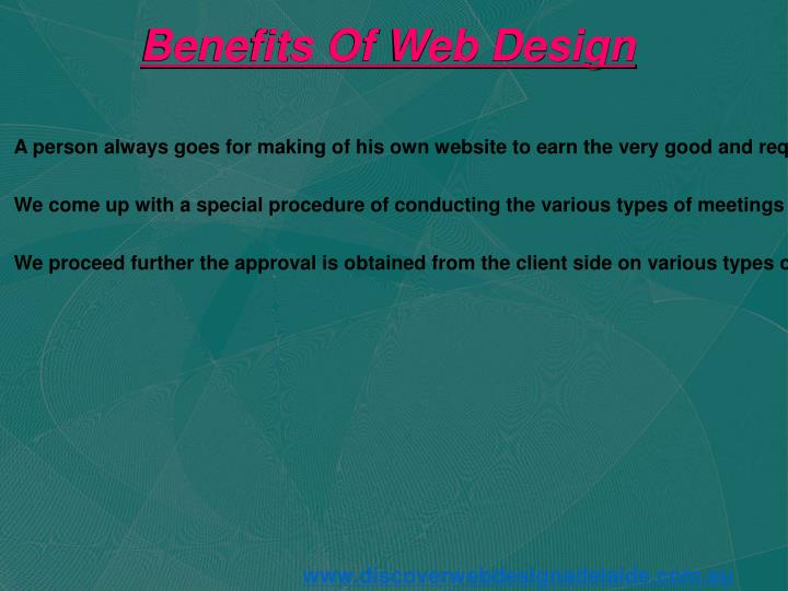 Benefits Of Web Design