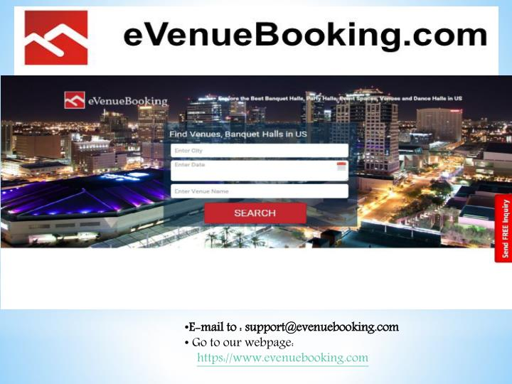 E-mail to : support@evenuebooking.com