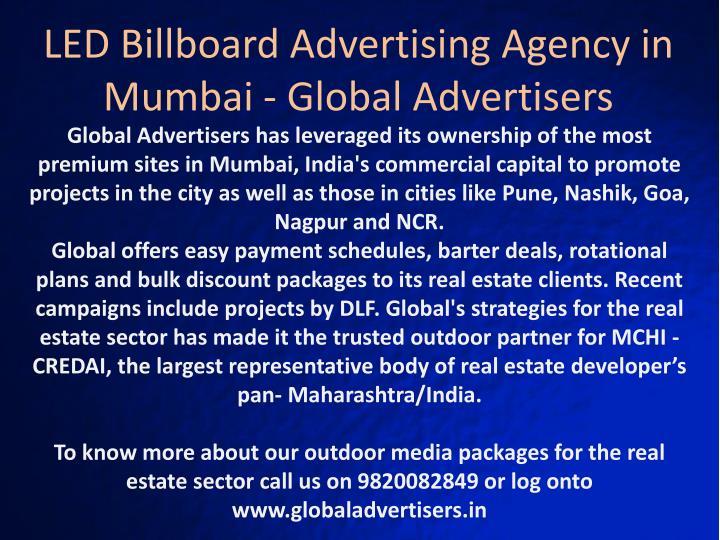 LED Billboard Advertising Agency in Mumbai - Global Advertisers