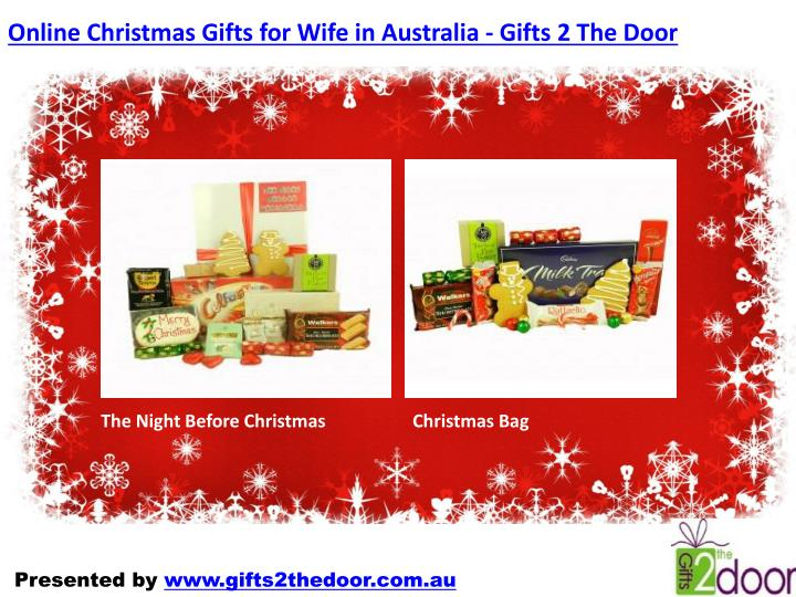 Online Christmas Gifts for Wife in Australia - Gifts 2 The Door