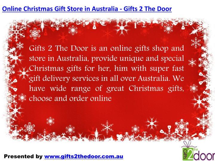 Online Christmas Gift Store in Australia - Gifts 2 The Door