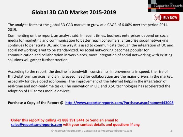 Global 3D CAD Market 2015-2019