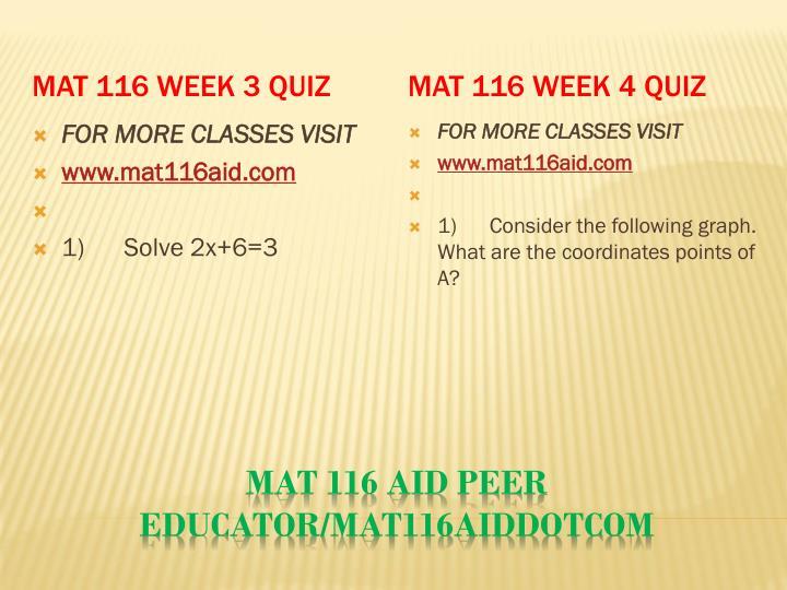 MAT 116 Week 3