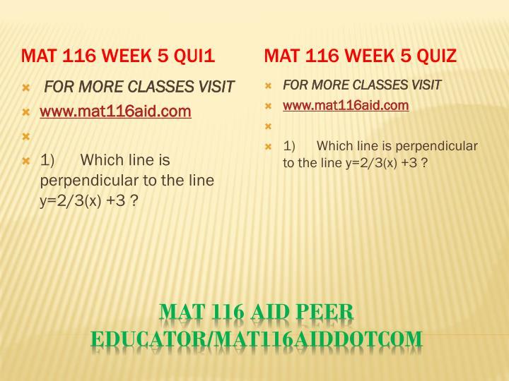 MAT 116 Week 5 Qui1