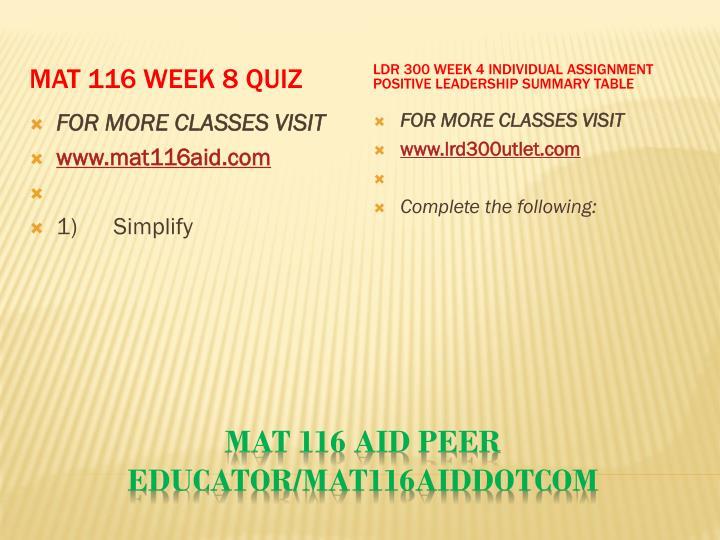 MAT 116 Week 8 Quiz