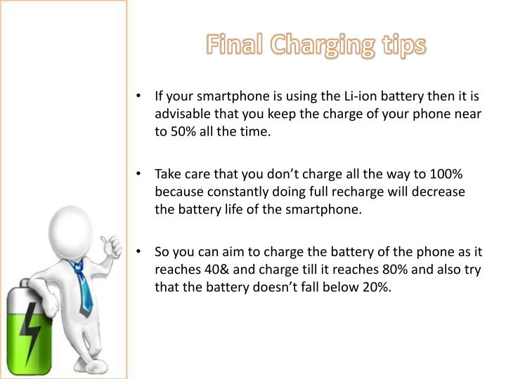 Final Charging tips