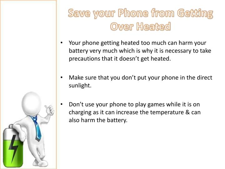 Save your Phone from Getting Over Heated