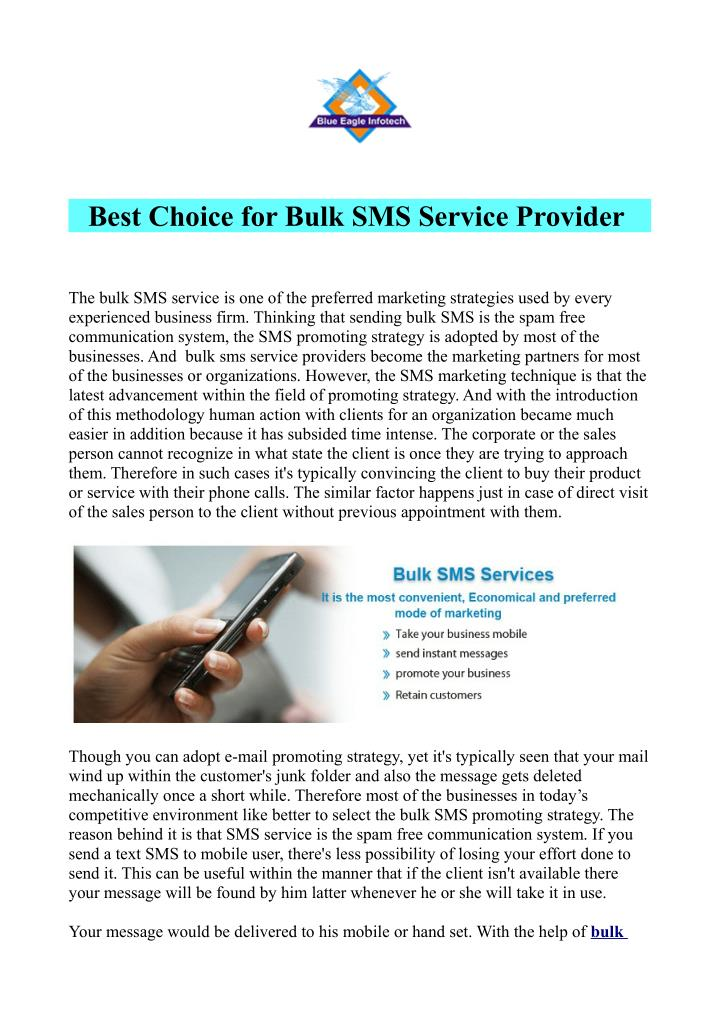 Best Choice for Bulk SMS Service Provider