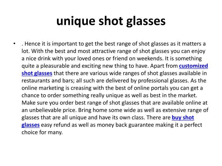 unique shot glasses