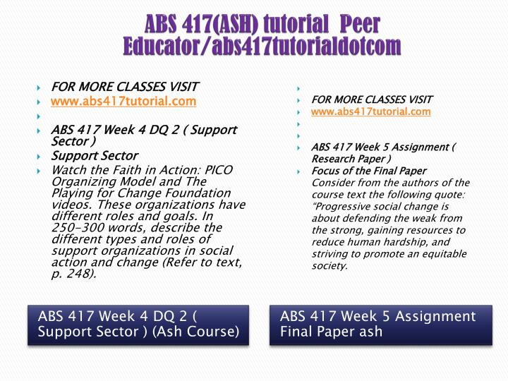 ABS 417(ASH) tutorial  Peer Educator/abs417tutorialdotcom