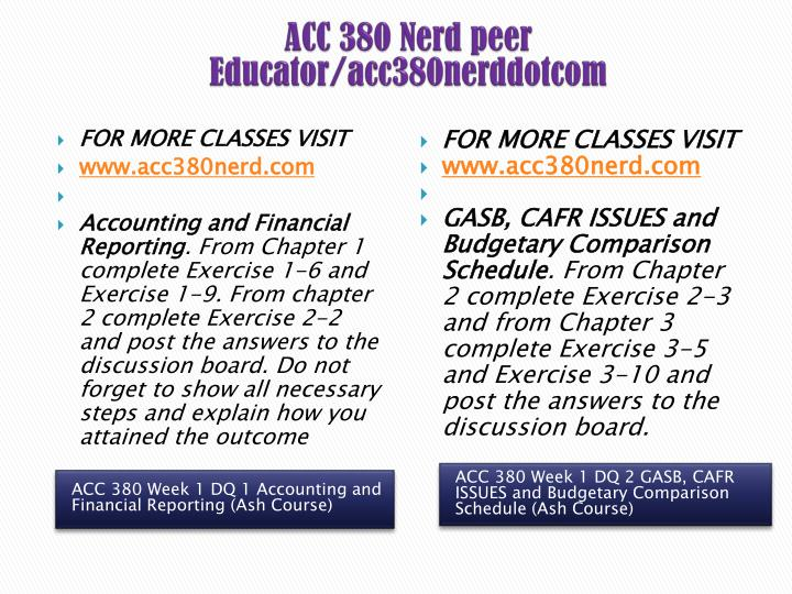 ACC 380 Nerd peer Educator/acc380nerddotcom