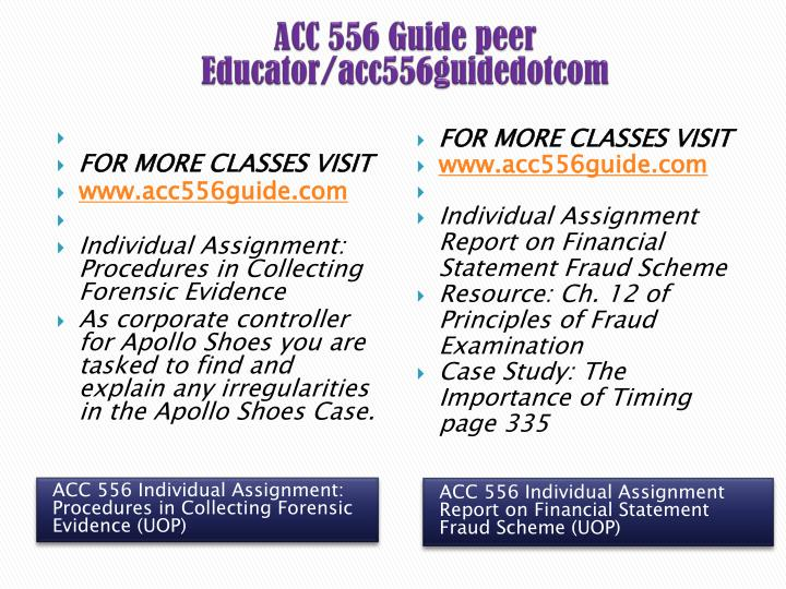 ACC 556 Guide peer Educator/acc556guidedotcom