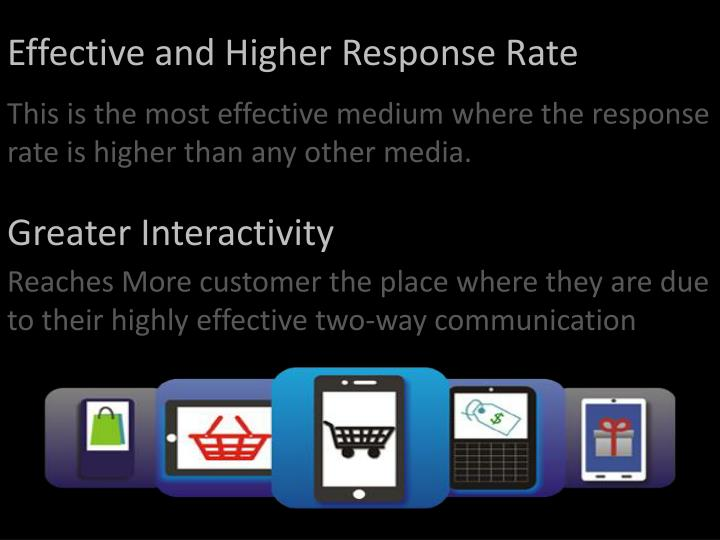Effective and Higher Response Rate