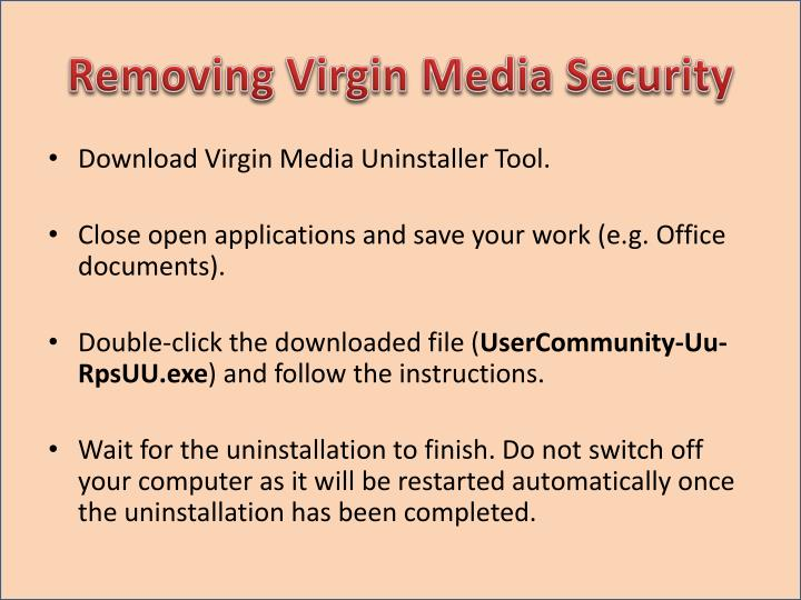 Removing Virgin Media