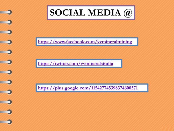 SOCIAL MEDIA @