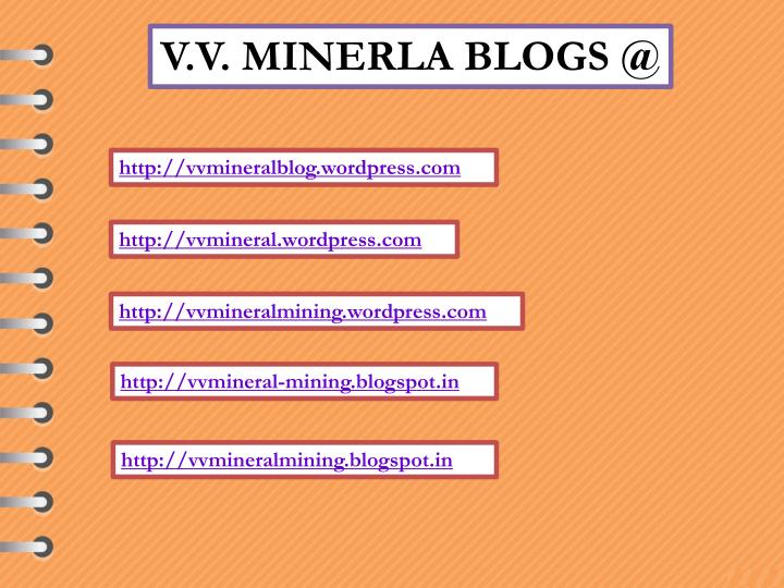 V.V. MINERLA BLOGS @