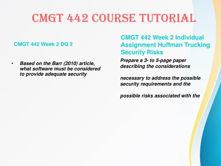 CMGT 442 Week 2 DQ 2