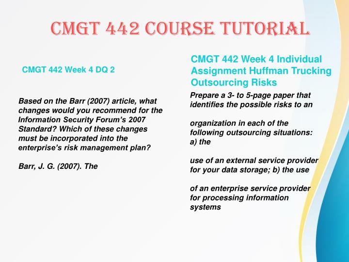 CMGT 442 Week 4 DQ 2