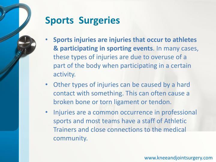 Sports  Surgeries