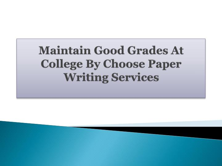 College-paper writing services